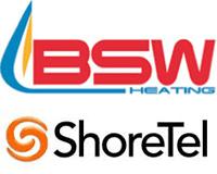 BSW Heating/ShoreTel Case Study logo