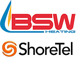 BSW Heating/ShoreTel Case Study logo