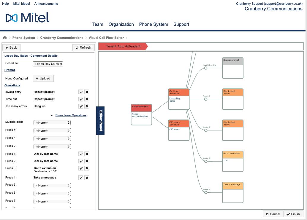 Mitel MiCloud Portal