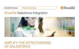 ShoreTel CONNECT Salesforce Integration Brochure