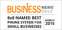 Business News Daily, Best Phone System for SME 2015 Badge