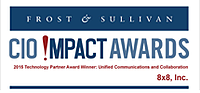 CIO Impact Award, Frost & Sullivan Badge