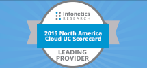 2015 North America Cloud UC Leading Provider Badge