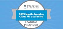 2015 North America Cloud UC Leading Provider Badge