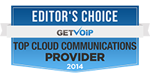 Editors Choice Top Cloud Comms Provider 2014 Badge